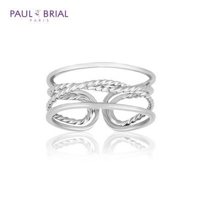 폴브리알 POBR0142 (WG) 네줄 꼬임 반지