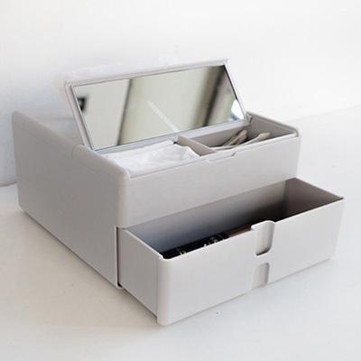 코스메틱 멀티 박스(티슈+거울+정리)