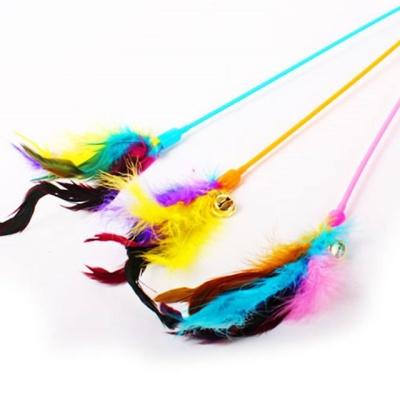 파스텔 반려동물 방울스틱 낚시대 색상랜덤