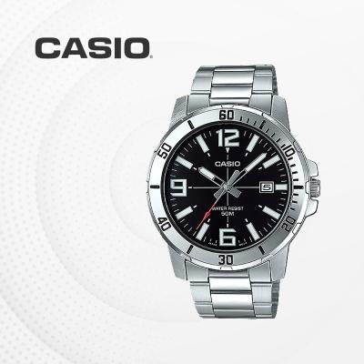 카시오 남자 남성 메탈 패션 손목시계 MTP-VD01D-1B