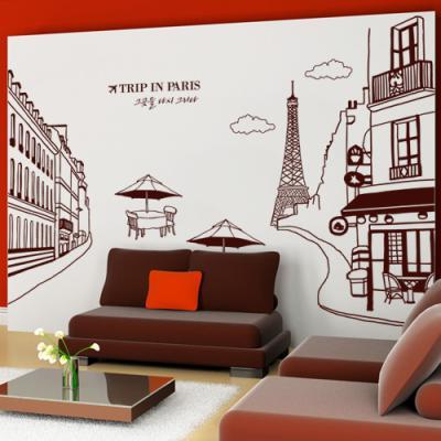 ih529-에펠탑이보이는파리의카페거리(대형)_포인트스티커