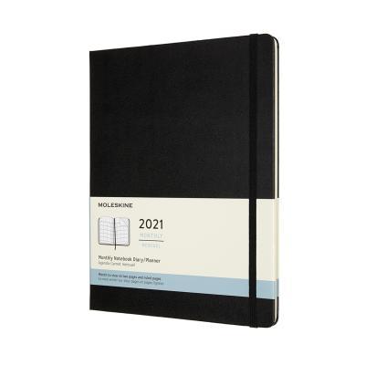 몰스킨 2021먼슬리/블랙 하드 XL