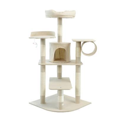 헬로망치 프리미엄 중형 고양이 직조 캣타워 GB616
