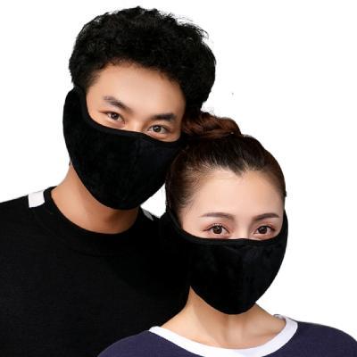 극세사 방한 귀마개마스크 BLACK 겨울용 안면 마스크