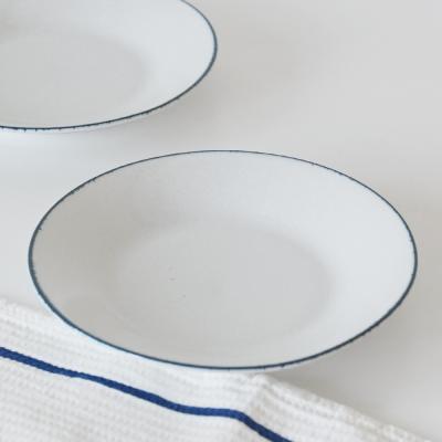 블루보카시 접시 19cm