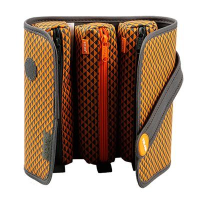 MILAN 프린트2 뉴디자인 멀티필통-오렌지