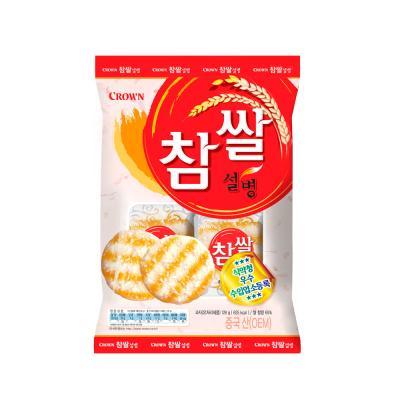 크라운 참쌀설병 과자 (중) 128g