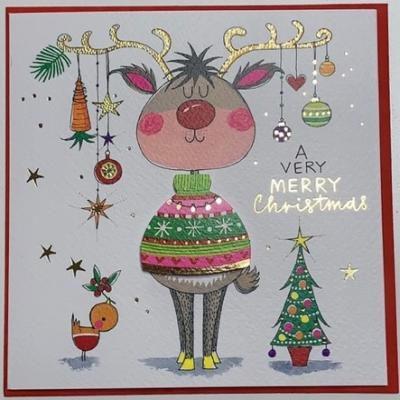 [빛나파티]순록 점퍼 크리스마스 카드