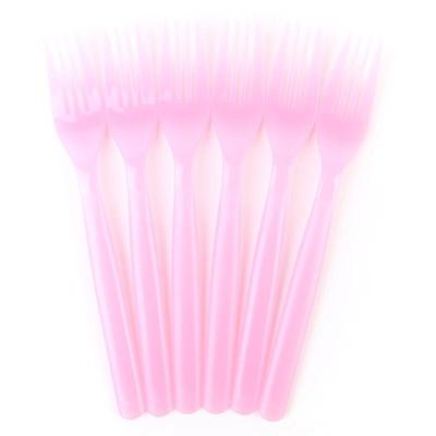 파티용 크리스탈 포크 - 핑크(6개입)