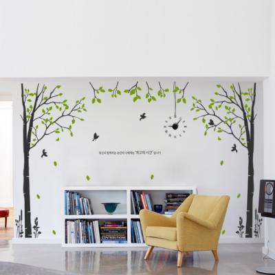 ph609-자작나무숲과전등_그래픽시계