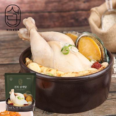 [허닭] 식단 전복 삼계탕 1kg 4팩