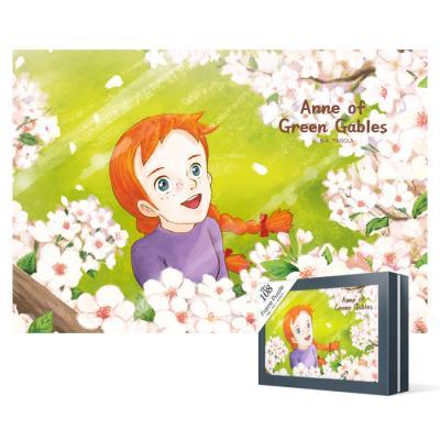108피스 직소퍼즐 - 빨강머리앤 벚꽃(미니)케이스액자