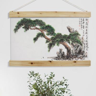da336-우드스크롤_40CmX60Cm_동양화장수의소나무