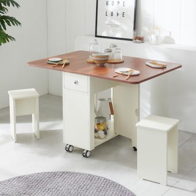 [랜선할인]폴딩 테이블 식탁(LPM)+의자2개 KD470