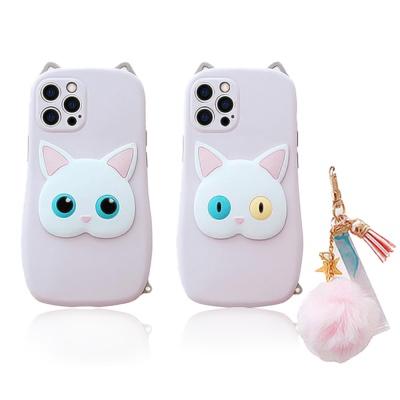 아이폰 고양이 키링 태슬 12 11 pro max 실리콘케이스