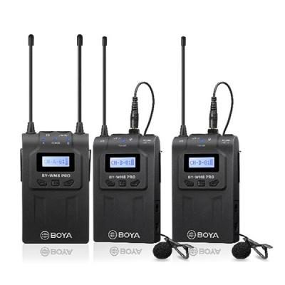 보야 BY-WM8 Pro-K2 UHF 듀얼채널 무선마이크