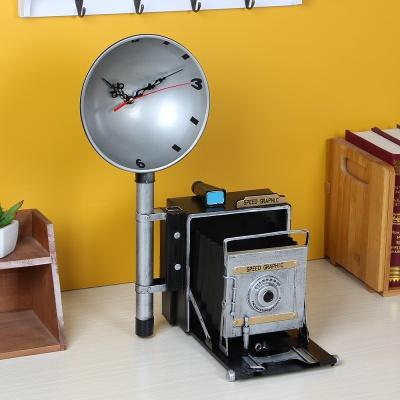 올드타임 엔틱 탁상시계(사진기)