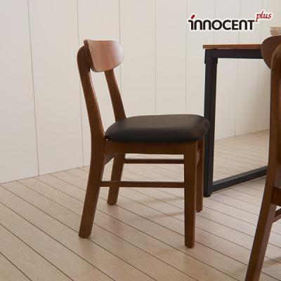 [이노센트] 리브 투게더 PU가죽 원목의자