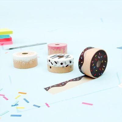 [썩유케이] 도넛 디자인 종이 마스킹 테이프