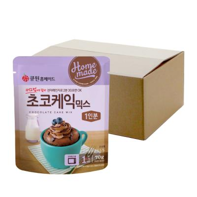 (박스특가) 큐원 초코케익믹스 70g 20개 전자레인지용