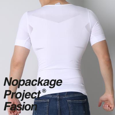 NPF 남자 보정 반팔 속옷 뱃살 체형 가슴 압박 티셔츠