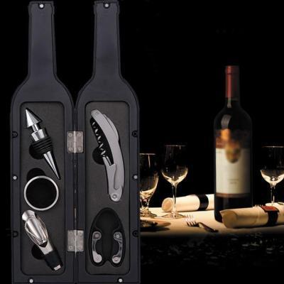 와인병 모양 와인 용품 오프너 세트 5p