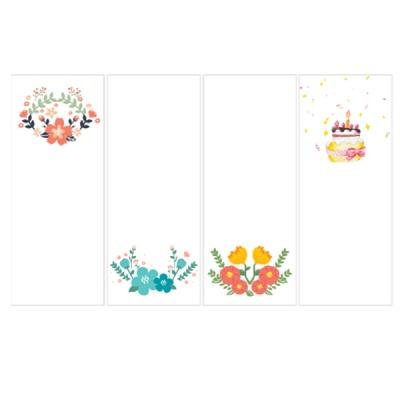캘리그림책갈피-꽃&생일(10장)