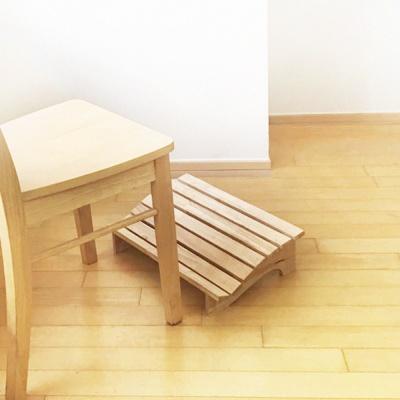 에코상사 고무나무 원목 와이드 발받침대
