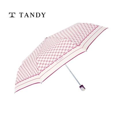 탠디 아이보리패턴 3단우산