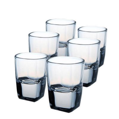 [마누크리스탈] 심플한 플라자 핫샷잔(6P)사케잔정종잔소주잔 양주잔