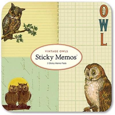 Cavallini 접착식메모패드-Vintage Owls (CSTM - 1)