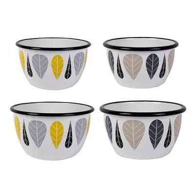 [Muurla]Muurla Leaves enamel bowl, yellow, small 볼