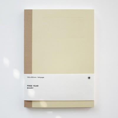 [스크래치 특가]  백상점 FREE YEAR DIARY_beige (다이어리)