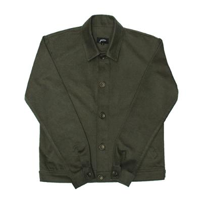 [게타] Standard collar short jacket Khaki
