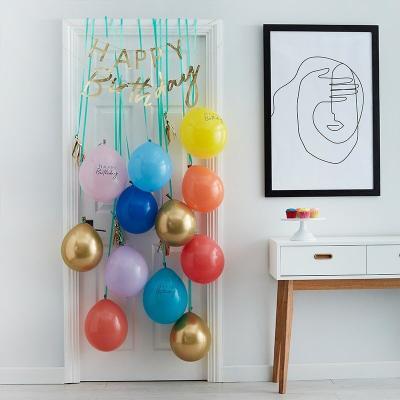 [빛나파티]풍선과 생일축하 가랜드 올인원 패키지