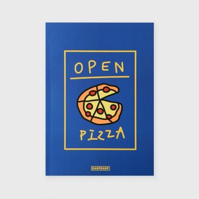 [어프어프] 노트 Delicious pizza-blue