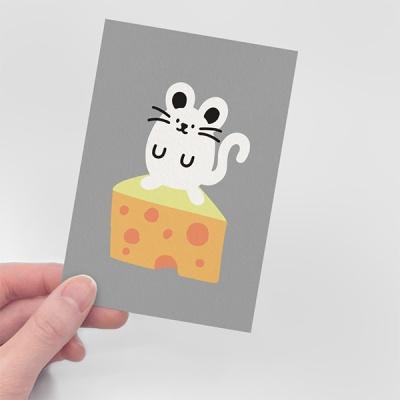 [무직타이거] 뚱찌 온 더 치즈 엽서
