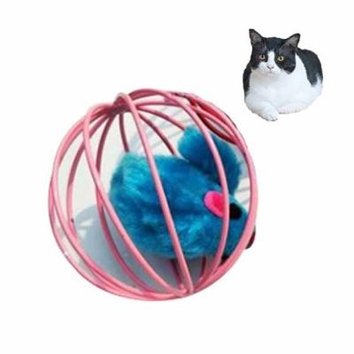 고양이장난감 원형 쥐돌이 딸랑이(색상랜덤 1P)