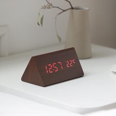 몬트 아이우드 LED 무소음 우드 탁상시계