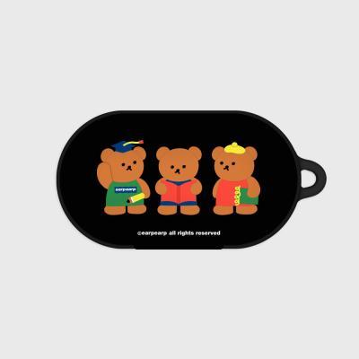 Smart bear friends-black(Buds hard case)