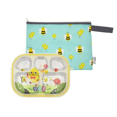 쪼로롱 도시락식판 꿀벌모험 파우치세트CH1569891