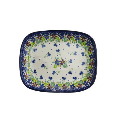 폴란드그릇 아티스티나 라운드직사각접시 소 패턴2509