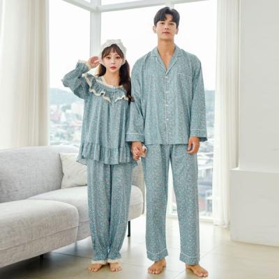 [쿠비카]플라워 토숀레이스 투피스 커플잠옷 WM236