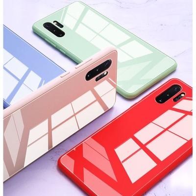 갤럭시 노트10/플러스 슬림핏 강화유리 핸드폰 케이스