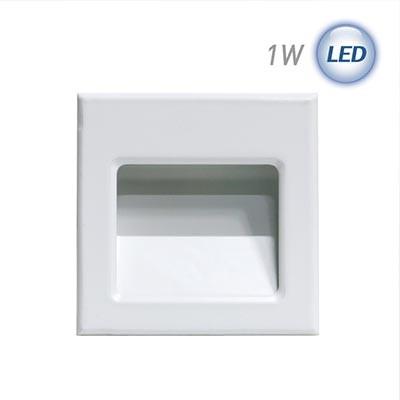 LED 미니사각 계단매입 1W (화이트)