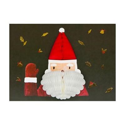 허니콤 크리스마스 산타얼굴