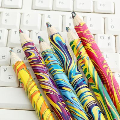 (와인앤쿡)실속형 6p 마블링 색연필1세트