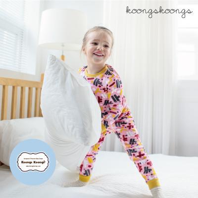 [긴팔실내복]글자놀이실내복(핑크) 유아실내복 아동실내복