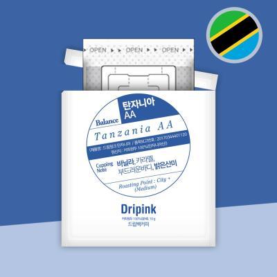 드립핑크 갓볶은 탄자니아 AA 10g 드립백커피
