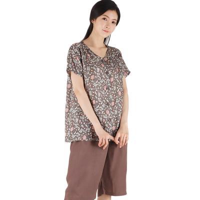 테라우드 커플잠옷 여성용 풍기인견 상하 폴마운틴